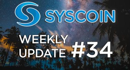 Syscoin Community Weekly Update #34 – Syscoin Community – Medium