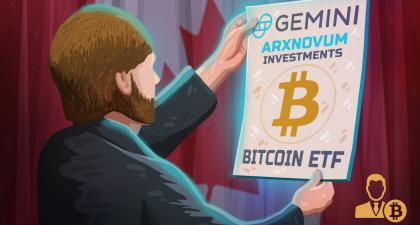 Arxnovum Files Bitcoin ETF in Canada With Gemini as Sub-Custodian
