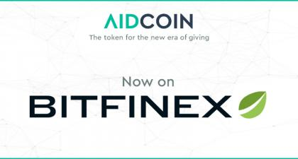PR: AidCoin Sells out Its ICO in Minutes and Gets Listed on Bitfinex