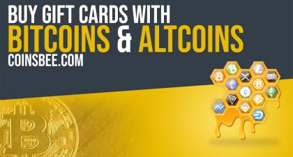 Using CoinsBee & Bitcoin Or Altcoins To Buy Gift Cards For The Holidays