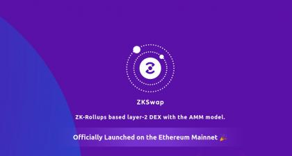 Layer2 DEX ZKSwap Launches on Ethereum, Aims to Power Next-Gen DeFi