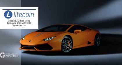 Litecoin (LTC) Buys Luxury Lamborgini With Just $1000 Transaction Fee