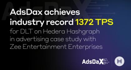 AdsDax achieves 1372 cryptocurrency transactions per second on Hedera… | Hedera Hashgraph