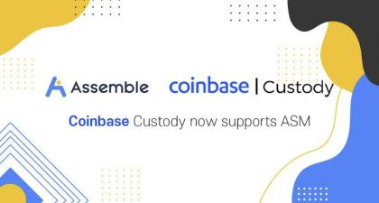 ASSEMBLE Protocol (ASM) Is Now Supported on Coinbase Custody – Press release Bitcoin News