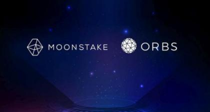 Moonstake launches partnership with blockchain Orb