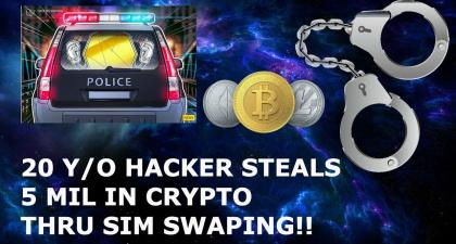 BITCOIN NEWS 20 YEAR OLD HACKER STEALS 5 MIL IN CRYPTO THRU SIM SWAPING!!
