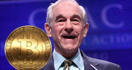 "Ron Paul's ""End the Fed"" Supports No-Tax Cryptocurrency"