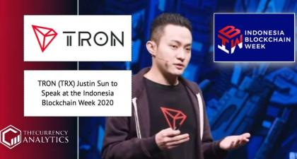 <bold>TRON</bold> (TRX) Justin Sun to Speak at the Indonesia Blockchain Week 2020