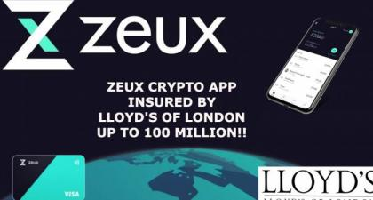 ZEUX'S CRYPTO VISA DEBIT CARD APP TO INSURE YOUR COINS UP TO 100M!!