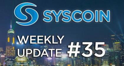 Syscoin Community Weekly Update #35 – Syscoin – Medium