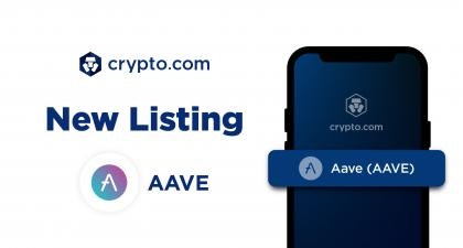 Crypto.com Lists Aave (AAVE)