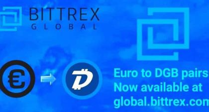 Bittrex Global soon to launch New DGB/EUR pair to expand trading opportunities for new crypto traders
