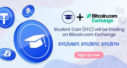 Student Coin (STC) Token Is Now Listed on Bitcoin.com Exchange – Press release Bitcoin News
